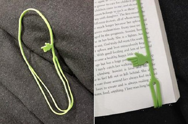 useful inventions pointing bookmark