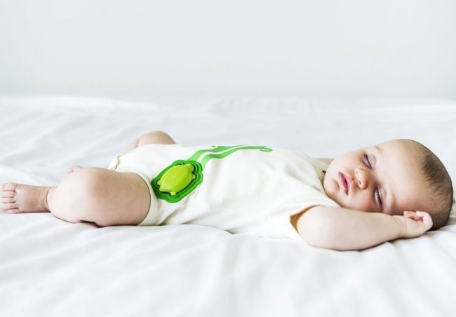 baby clothes with a built in activity monitor