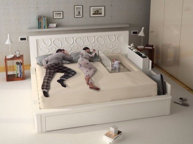 bed designed for new parents