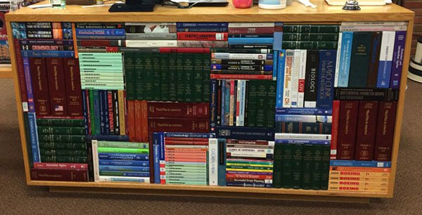 books stacked perfection