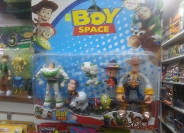 boy space toy story rip off
