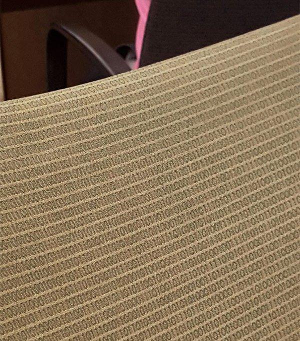 chairs with binary code