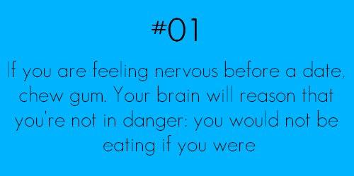 chew gum if nervous