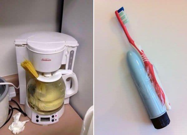 coffee machine cooking pasta