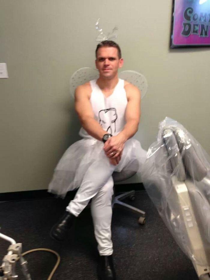 dentist in fairy costume