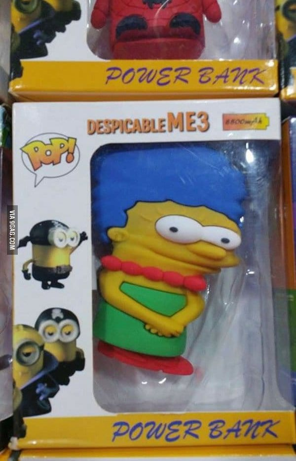 despicable me marge simpson knock off