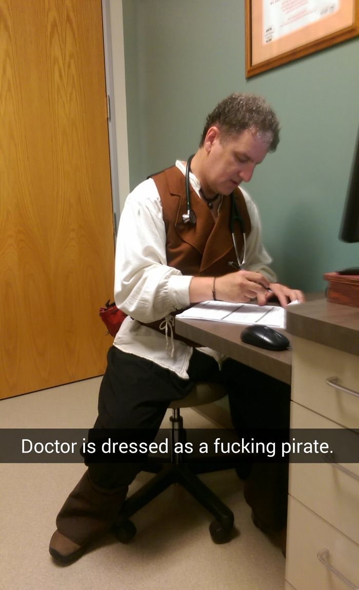 doctor dressed as pirate