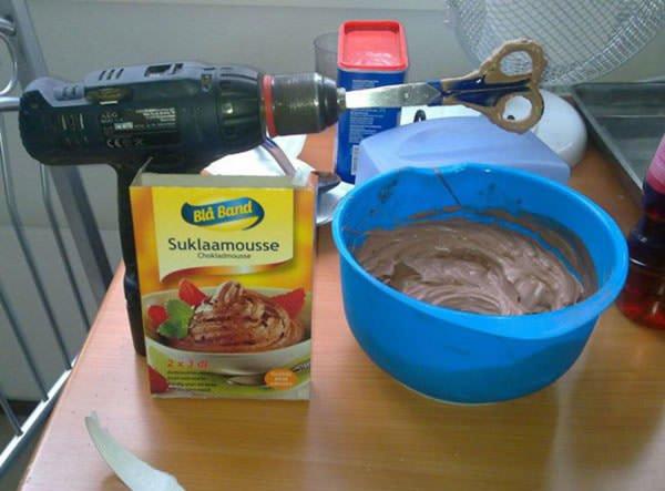 drill and scissors mixer
