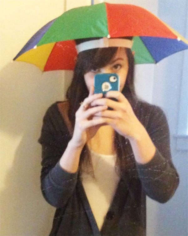 drunk purchases hat umbrella