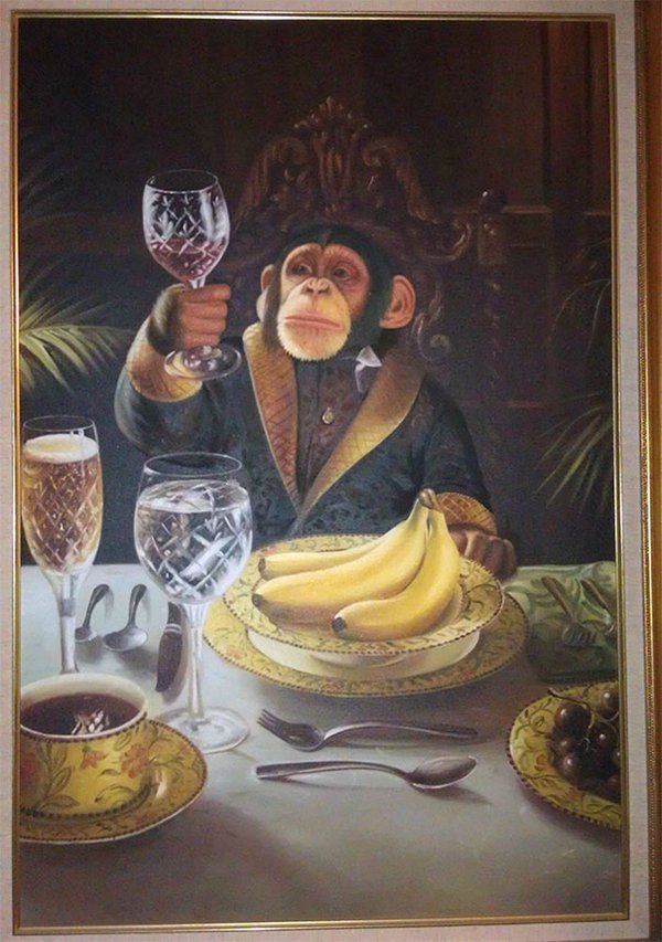 drunk purchases monkey painting