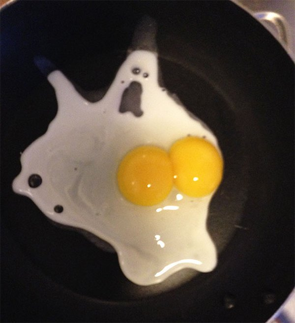 faces everyday objects egg ghost
