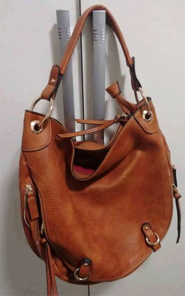 faces everyday objects handbag