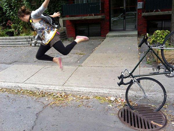falling off bike mid air
