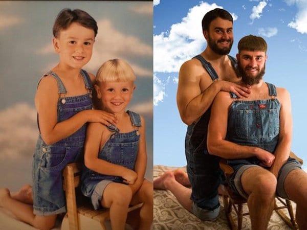 family photo recreation
