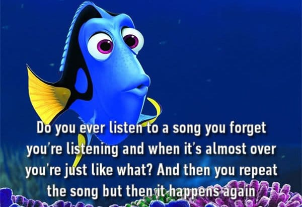 forget you listened to a song
