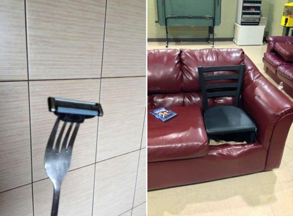 fork razor blade