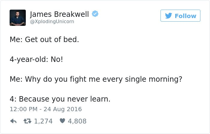 funny kid tweets get out of bed