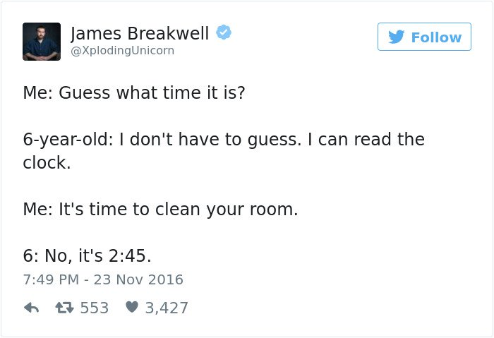 funny kid tweets its time to clean your room