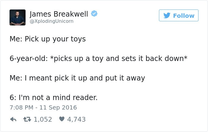 funny kid tweets pick up your toys