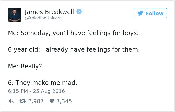 funny kid tweets some day youll have feelings for boys