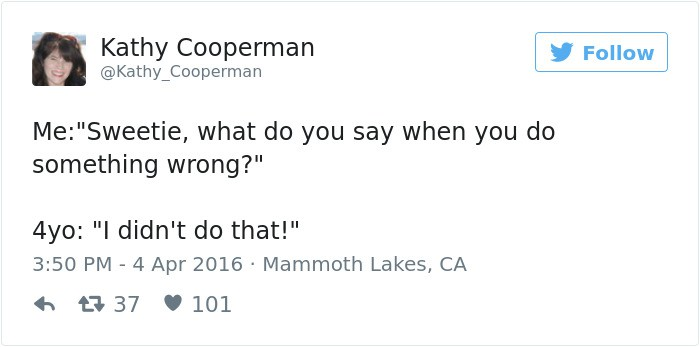 funny kid tweets what do you say when you do something wrong