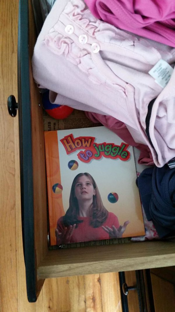 how to juggle hidden in underwear drawer