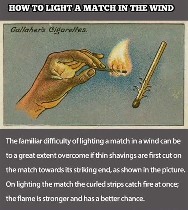 how to light a match in the wind