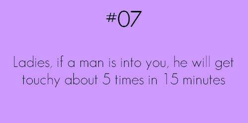 if a guy is in to you