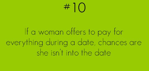 if a woman offers to pay for everything