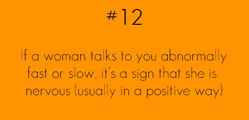 if a woman talks abnormaly fast or slow