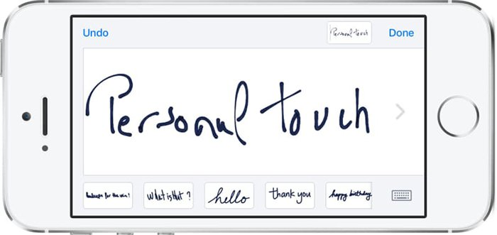 iphone features handwritten messages