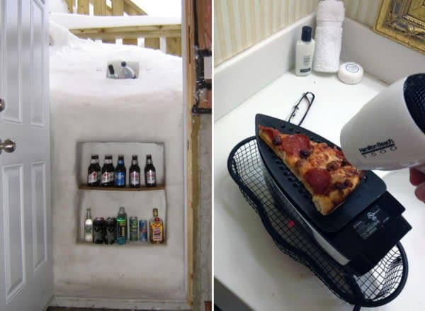 iron to heat up pizza