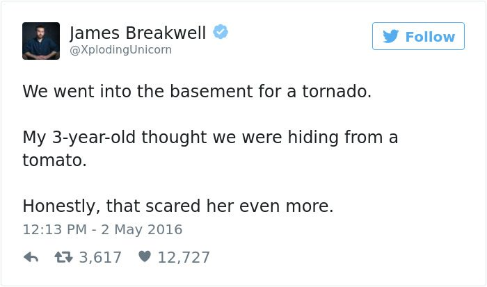 james breakwell tweets basement tornado