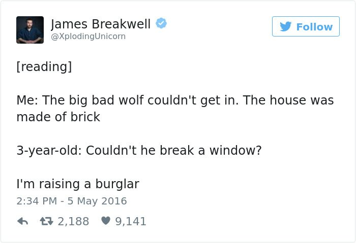 james breakwell tweets break a window