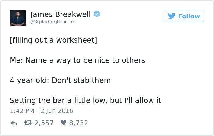 james breakwell tweets dont stab them