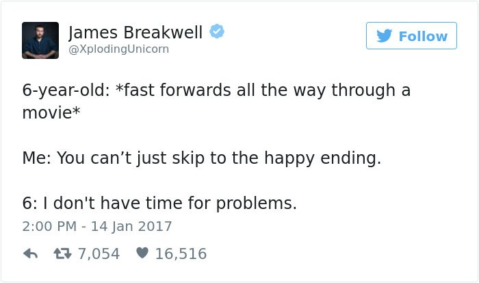 james breakwell tweets fast forwards