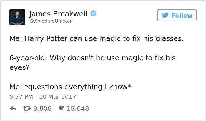 james breakwell tweets harry potter