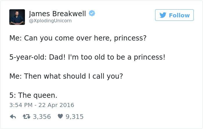 james breakwell tweets princess the queen