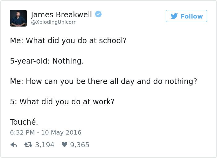 james breakwell tweets what did you do at work