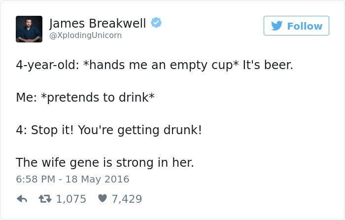 james breakwell tweets youre getting drunk