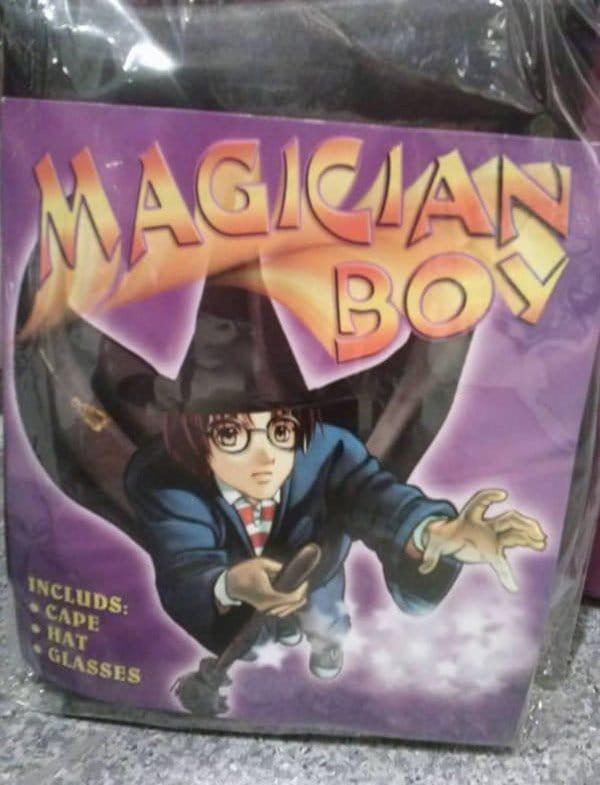 magician boy harry potter knock off