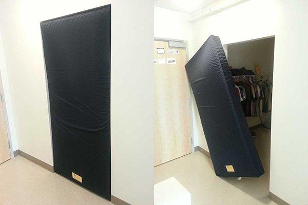 mattress fitting in door way