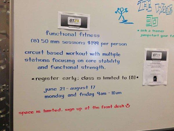 neat handwriting on white board