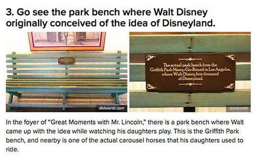 park bench walt disney
