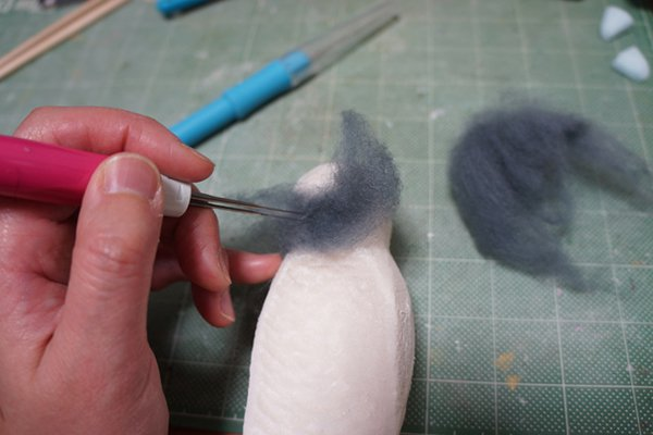 pigeon shoes being made