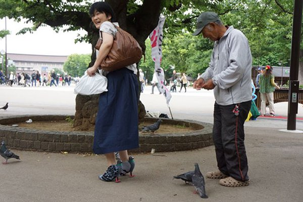 pigeon shoes japanese woman