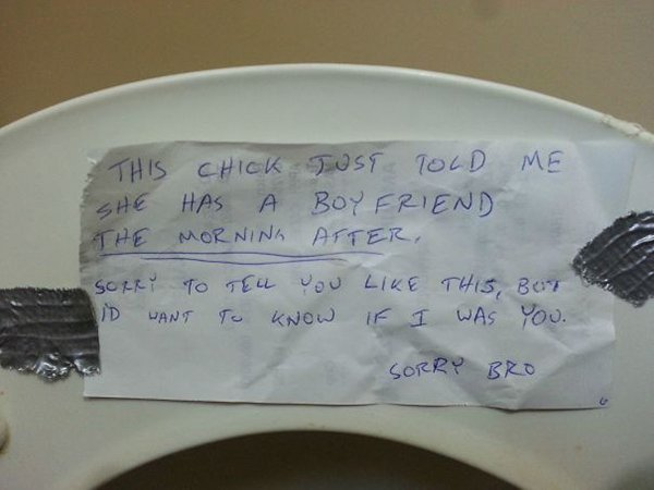 revenge stories note under toilet seat girl cheating