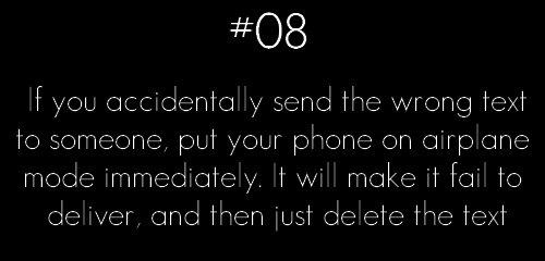 send text airplane mode cancel