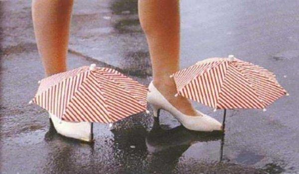 shoe-umbrellas