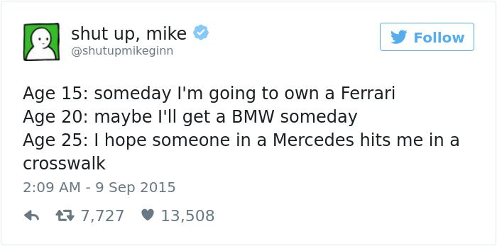 shut up mike tweet cars